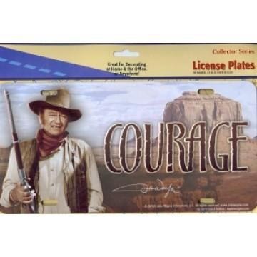John Wayne COURAGE License Plate
