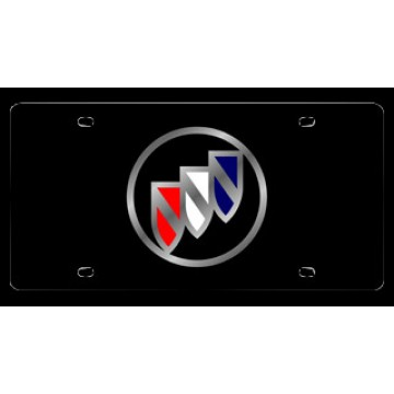 Black Buick Laser License Plate