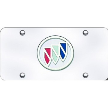 Buick 3D Stainless Steel License Plate