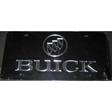 Buick Logo on Black Laser Cut License Plate
