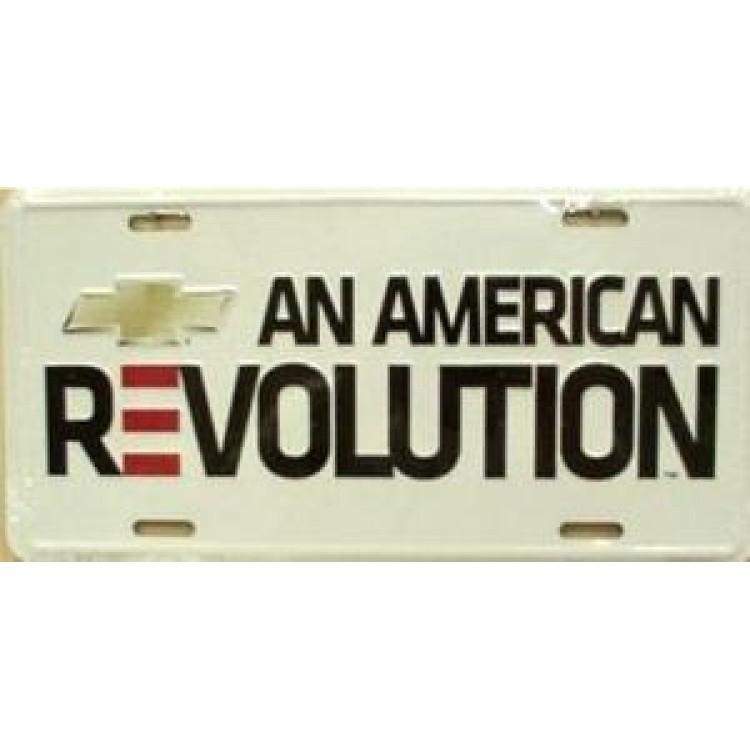 Chevrolet An American Revolution License Plate