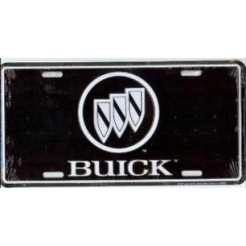 Buick Logo On Black License Plate