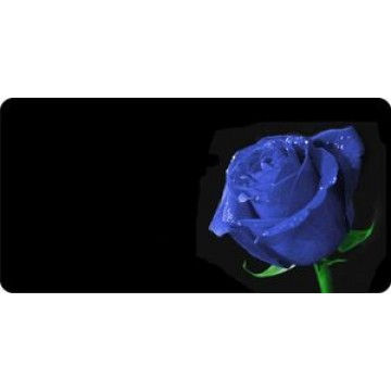 Blue Rose Offset Photo License Plate