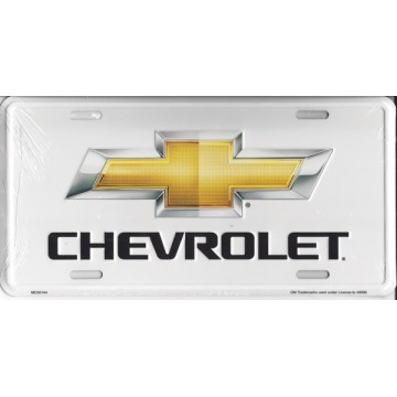 Chevrolet Bow Tie Metal License Plate