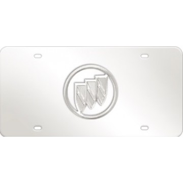 Buick Clear Logo Stainless Steel License Plate