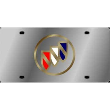 Buick Gold Logo Stainless Steel License Plate