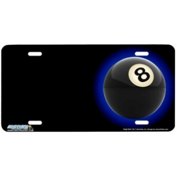 8 Ball Offset Airbrush License Plate