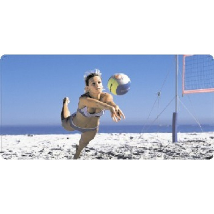 Beach Volleyball Photo License Plate