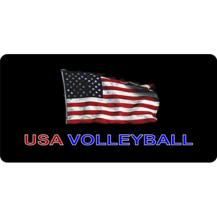 USA Volleyball Photo License Plate