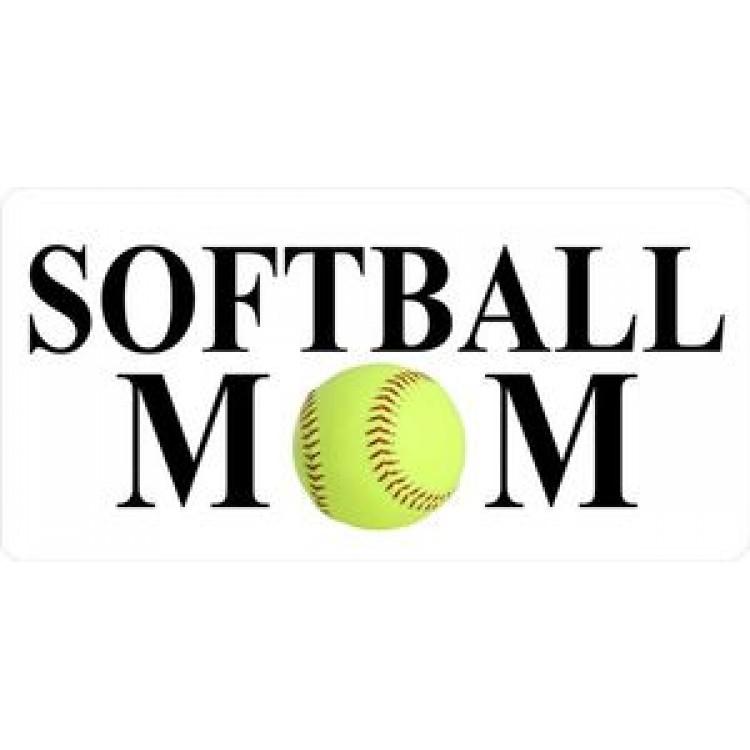 Softball Mom Photo License Plate