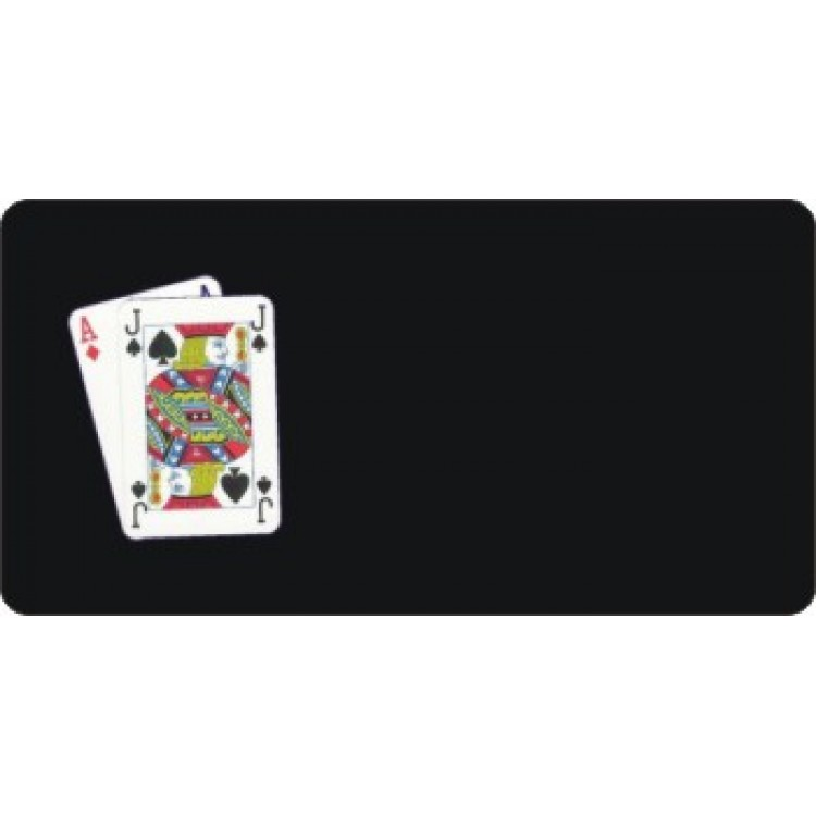 Offset Blackjack Playing Cards Photo License Plate