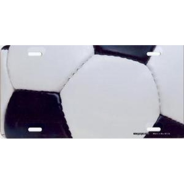 Soccer Ball Airbrush License Plate