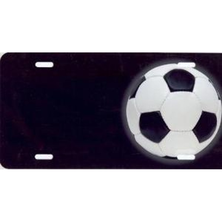 Soccer Ball Offset Airbrush License Plate