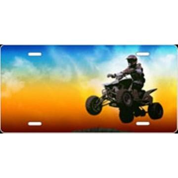 4 Wheeler Full Color Offset Airbrush License Plate