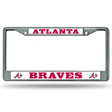 Atlanta Braves Chrome License Plate Frame