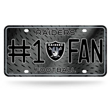 Oakland Raiders #1 Fan Metal License Plate