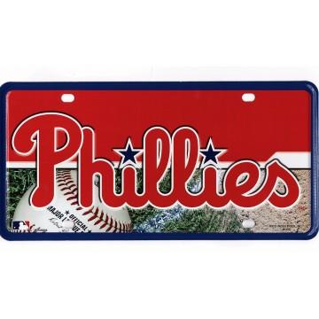 Philadelphia Phillies Metal License Plate