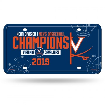Virginia Cavaliers 2019 NCAA Champions Metal License Plate