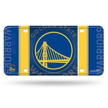 Golden State Warriors Metal License Plate