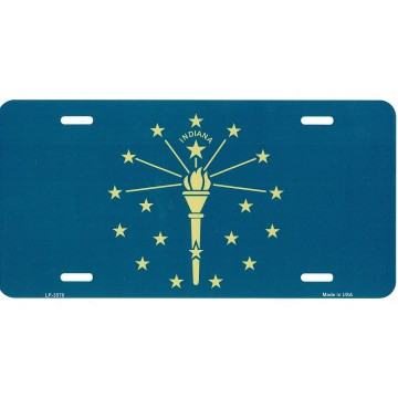Indiana State Flag Metal License Plate