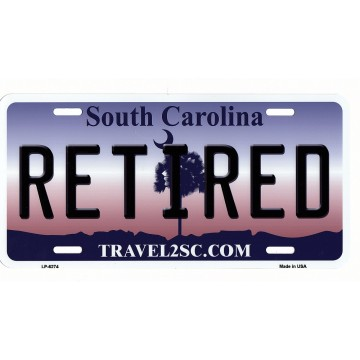South Carolina Retired Metal License Plate