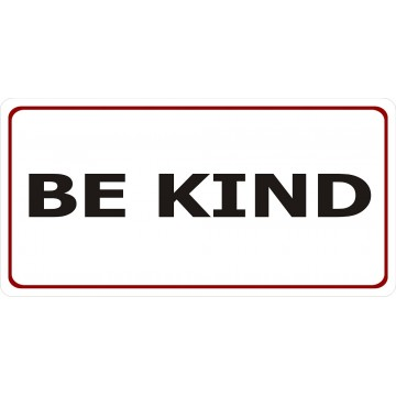 Be Kind Photo License Plate