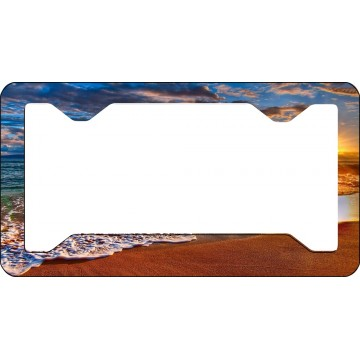 Beach Scene Thin Style License Plate Frame