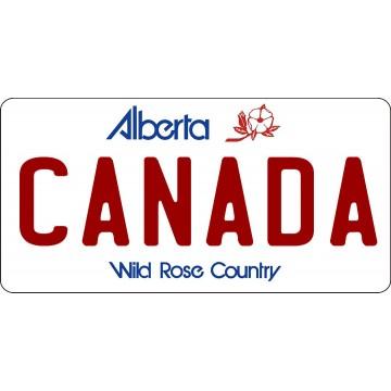 Alberta Canada Photo License Plate