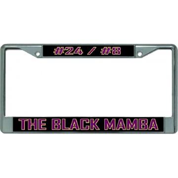 Kobe #24/#8 The Black Mamba Chrome License Plate Frame