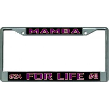 Kobe Mamba For Life Chrome License Plate Frame