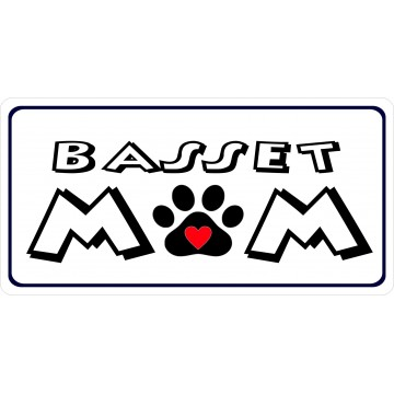 Basset Mom Photo License Plate