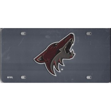 Phoenix Coyotes (Silver) Laser License Plate