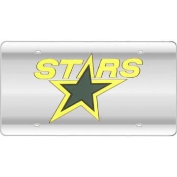 Dallas Stars (Silver) Laser License Plate