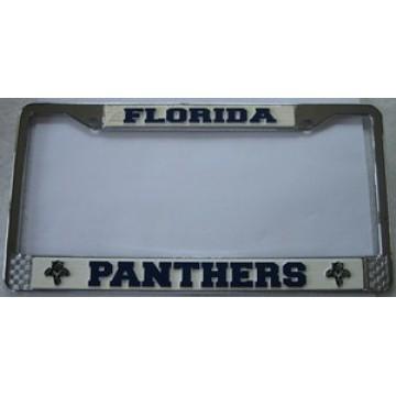 Florida Panthers Chrome License Frame