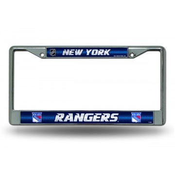 New York Rangers Glitter Chrome License Plate Frame