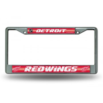 Detroit Red Wings Glitter Chrome License Plate Frame