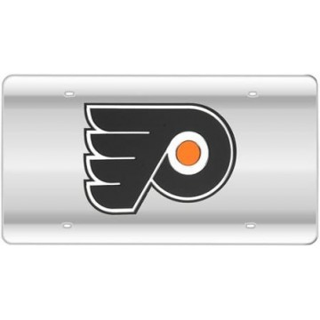 Philadelphia Flyers Silver Laser License Plate