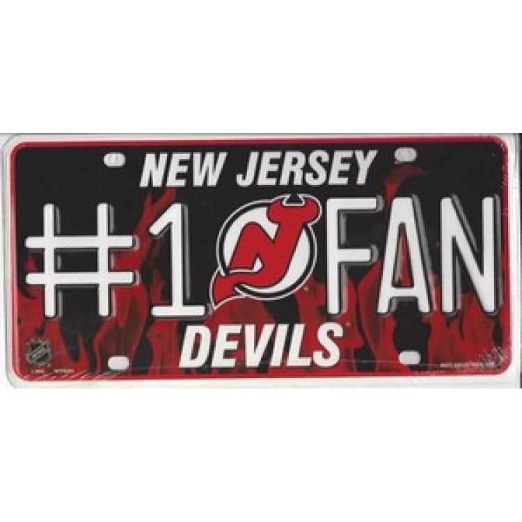 New Jersey Devils #1 Fan License Plate