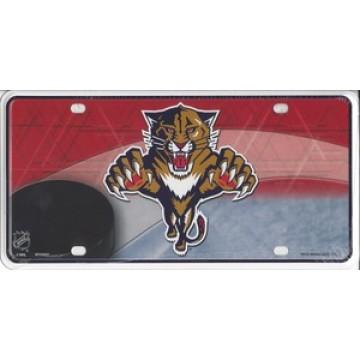 Florida Panthers Metal License Plate