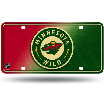 Minnesota Wild Metal License Plate
