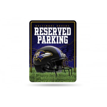 Baltimore Ravens Metal Parking Sign