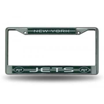 New York Jets Glitter Chrome License Plate Frame