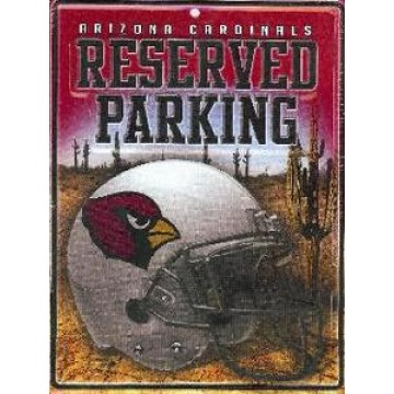Arizona Cardinals Metal Parking Sign