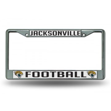 Jacksonville Jaguars Chrome License Plate Frame