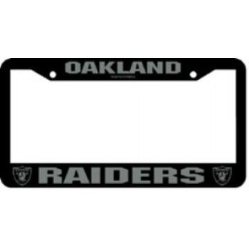Oakland Raiders Black License Plate Frame