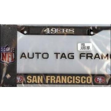 San Francisco 49ers Black License Plate Frame