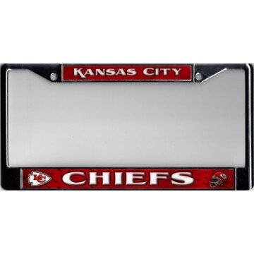Kansas City Chiefs Chrome License Plate Frame
