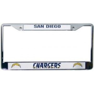San Diego Chargers Chrome License Frame