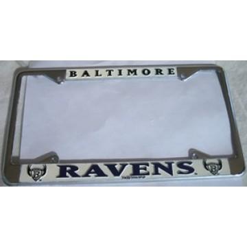 Baltimore Ravens Chrome License Plate Frame
