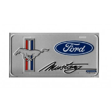 Ford Mustang W/ Ford Oval Anodized License Plate